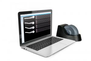 Computer mit Wirbelscanner